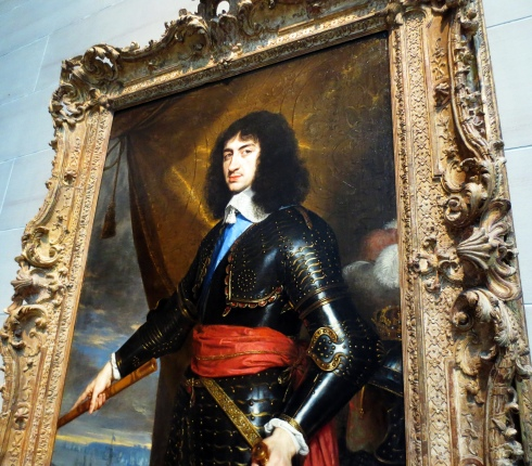 King Charles II, who Gabby didn't find very handsome at all, lol.