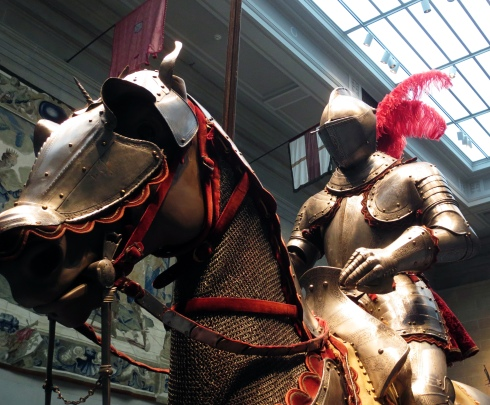 We had a very nice discussion about armor and how horses are used in battle.
