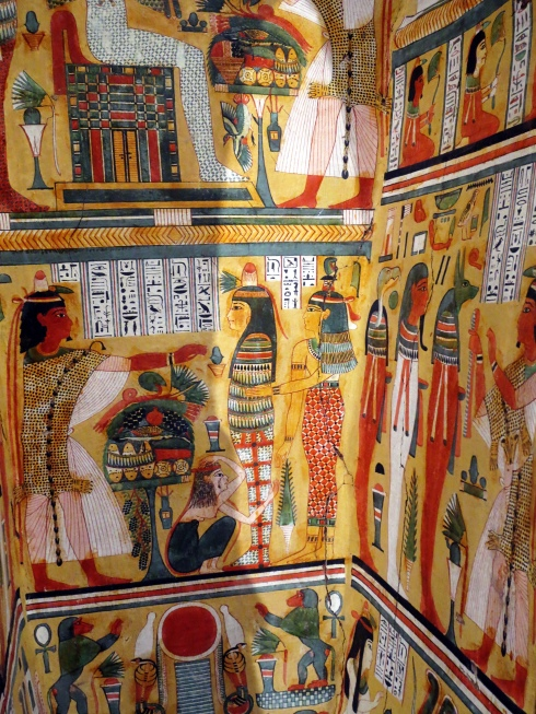 The inside of a sarcophagus, I couldn't believe how bright and lovely the colors were.